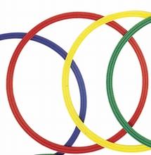 Platte gymnastiekhoepels 50 cm